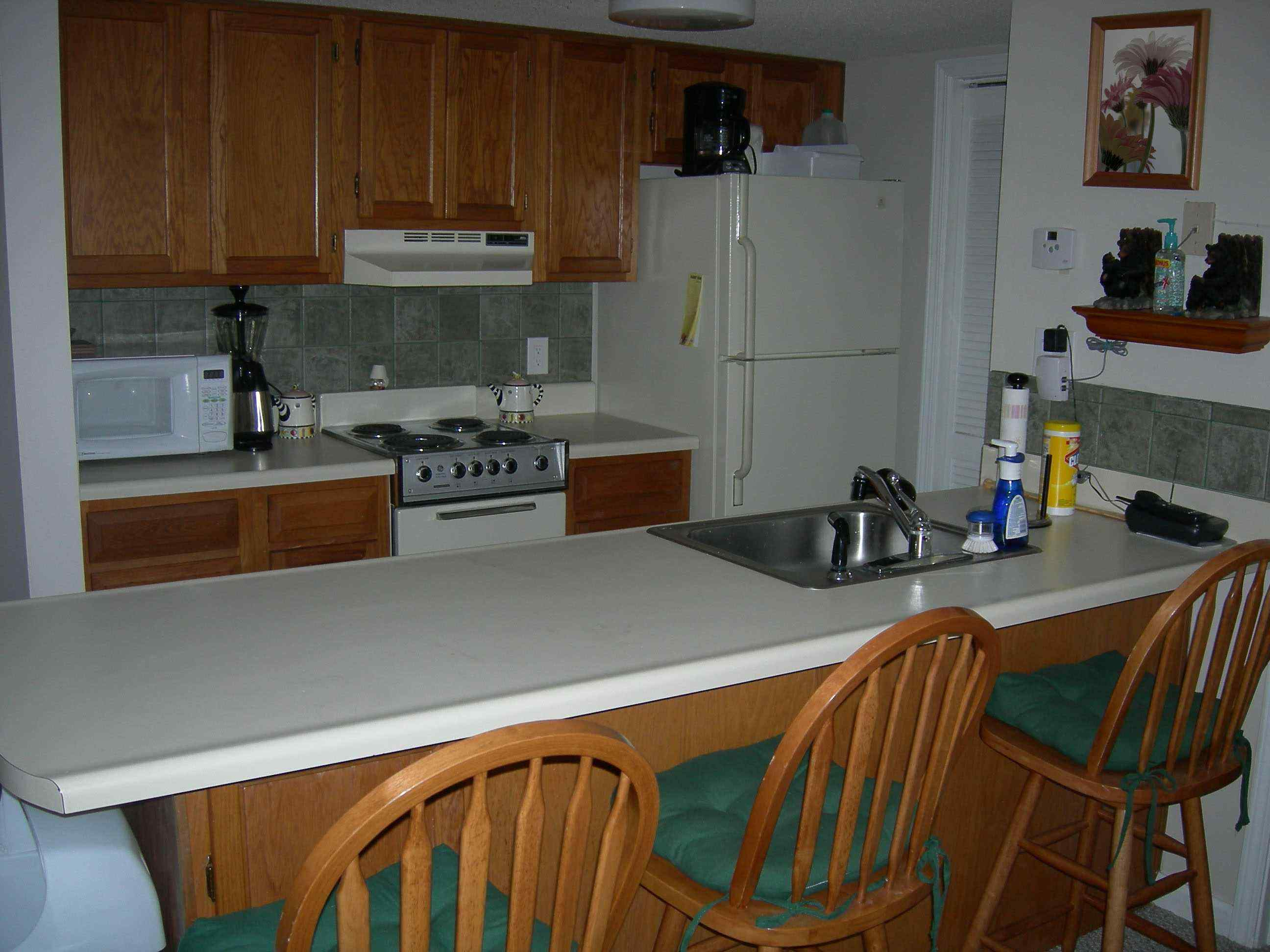 Kitchen Area In Gatlinburg Vacation Rental