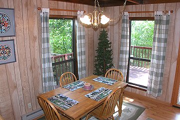 Dining Room In Fontana Dam Rental Property