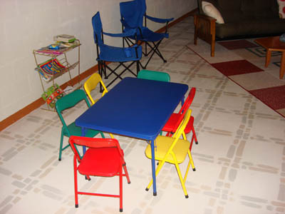 Play area in game room for  younger children